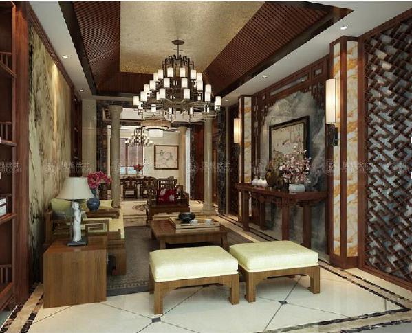 飘鹰锦和花园别墅装修新中式风格设计,上海腾龙别墅设计师归宏华作品,欢迎品鉴!