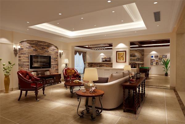 昆山富力湾别墅户型装修欧美风格设计方案展示,上海腾龙别墅设计,