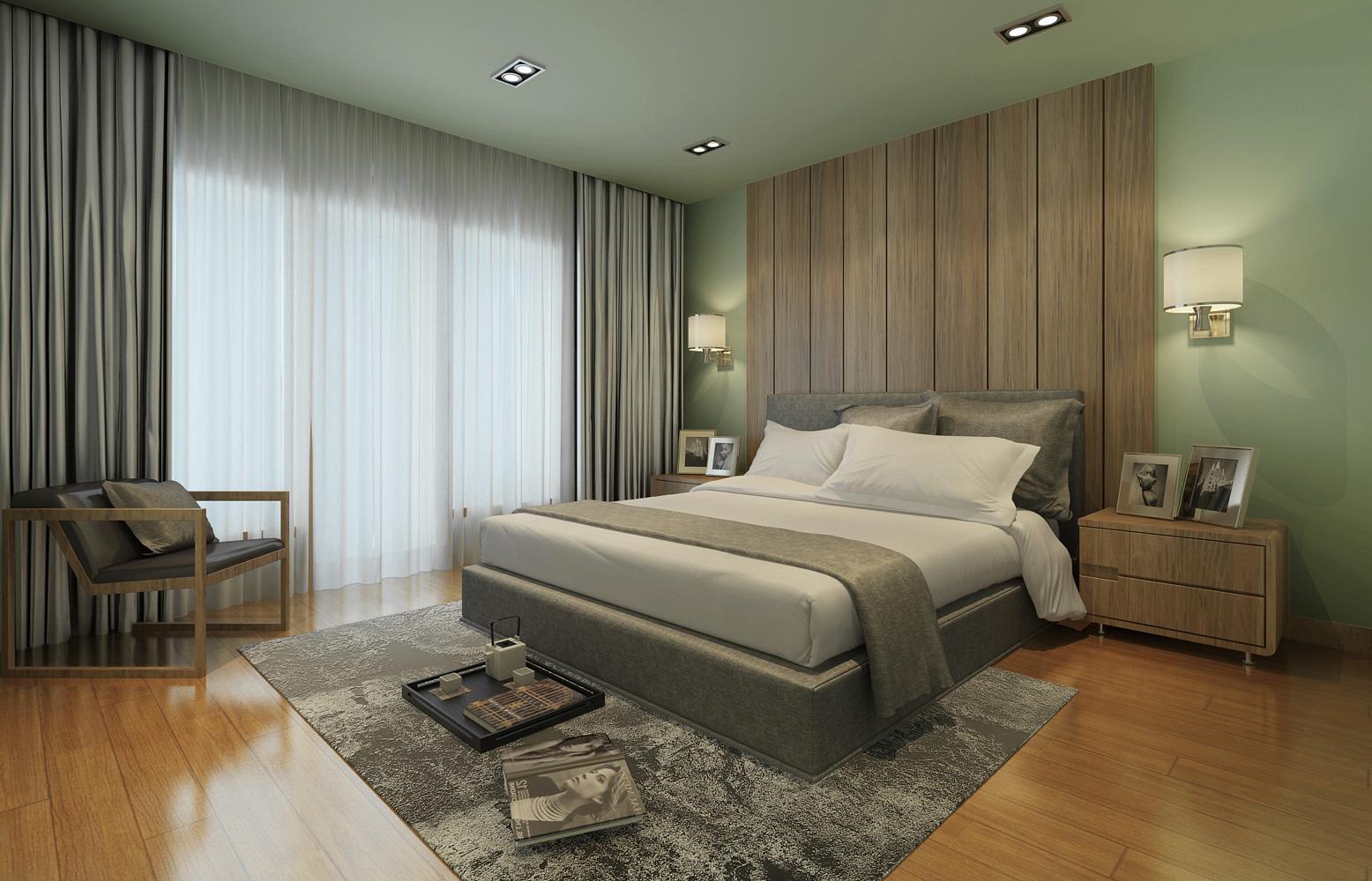 复地香栀花 别墅装修 简美风格 腾龙设计 卧室图片来自腾龙设计在复地香栀花园别墅现代风格设计1的分享