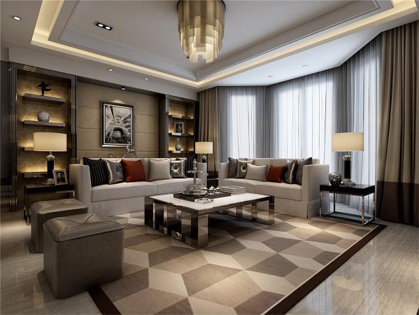 锦绣逸庭别墅户型装修现代风格设计方案展示,上海腾龙别墅设计,
