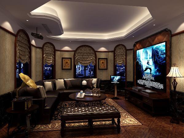 绿洲香格丽花园别墅户型装修美式风格设计方案展示,上海腾龙别墅设计,