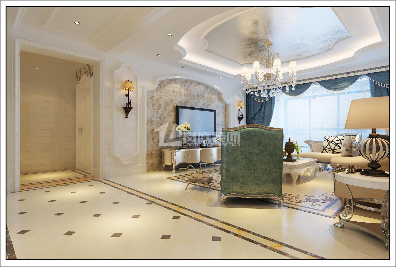 欧式 混搭 三居 白领 80后 纯水岸 客厅图片来自岚庭家居在纯水岸东湖162㎡欧式风格的分享