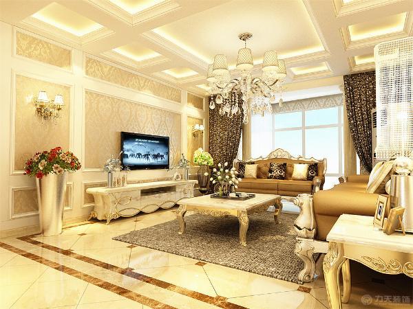 本户型设计的是欧式的装修风格,整个户型设计的高贵大气,而且富贵的气息。