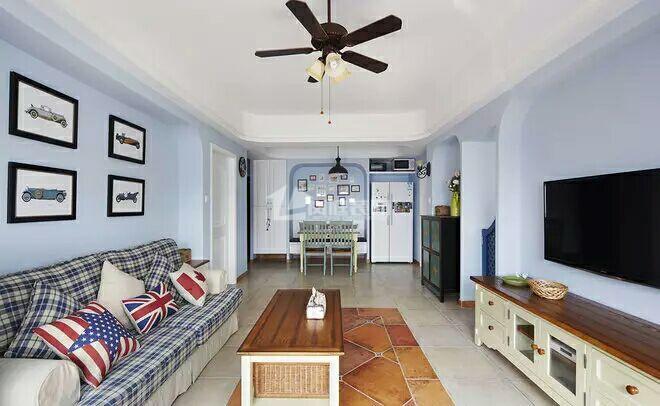 四居室 地中海 白领 80后 小资 客厅图片来自岚庭家居在福星惠誉东湖城129㎡地中海风格的分享