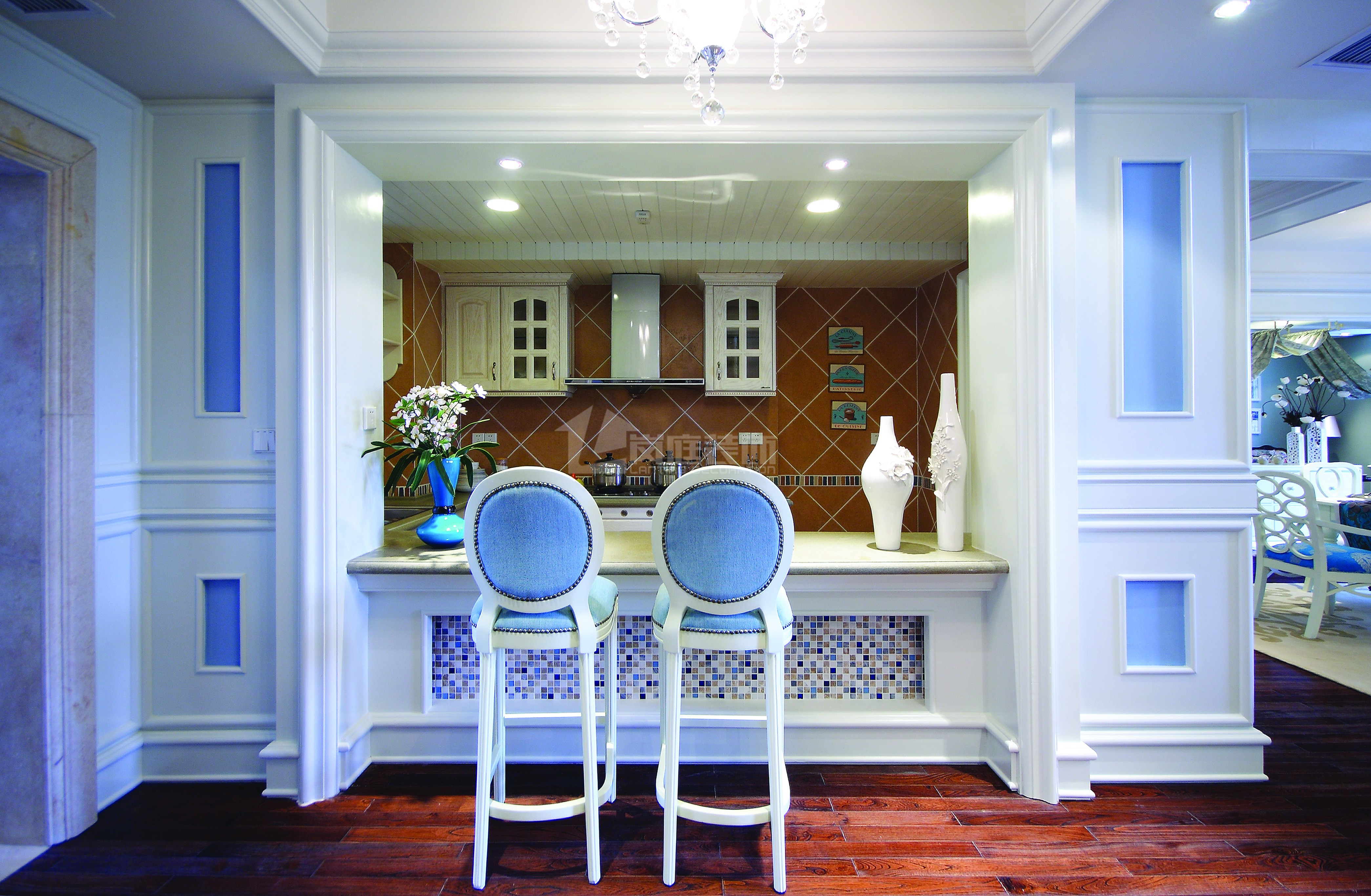 80后 小资 地中海 三居室 餐厅图片来自岚庭家居在百步亭金侨汇的分享