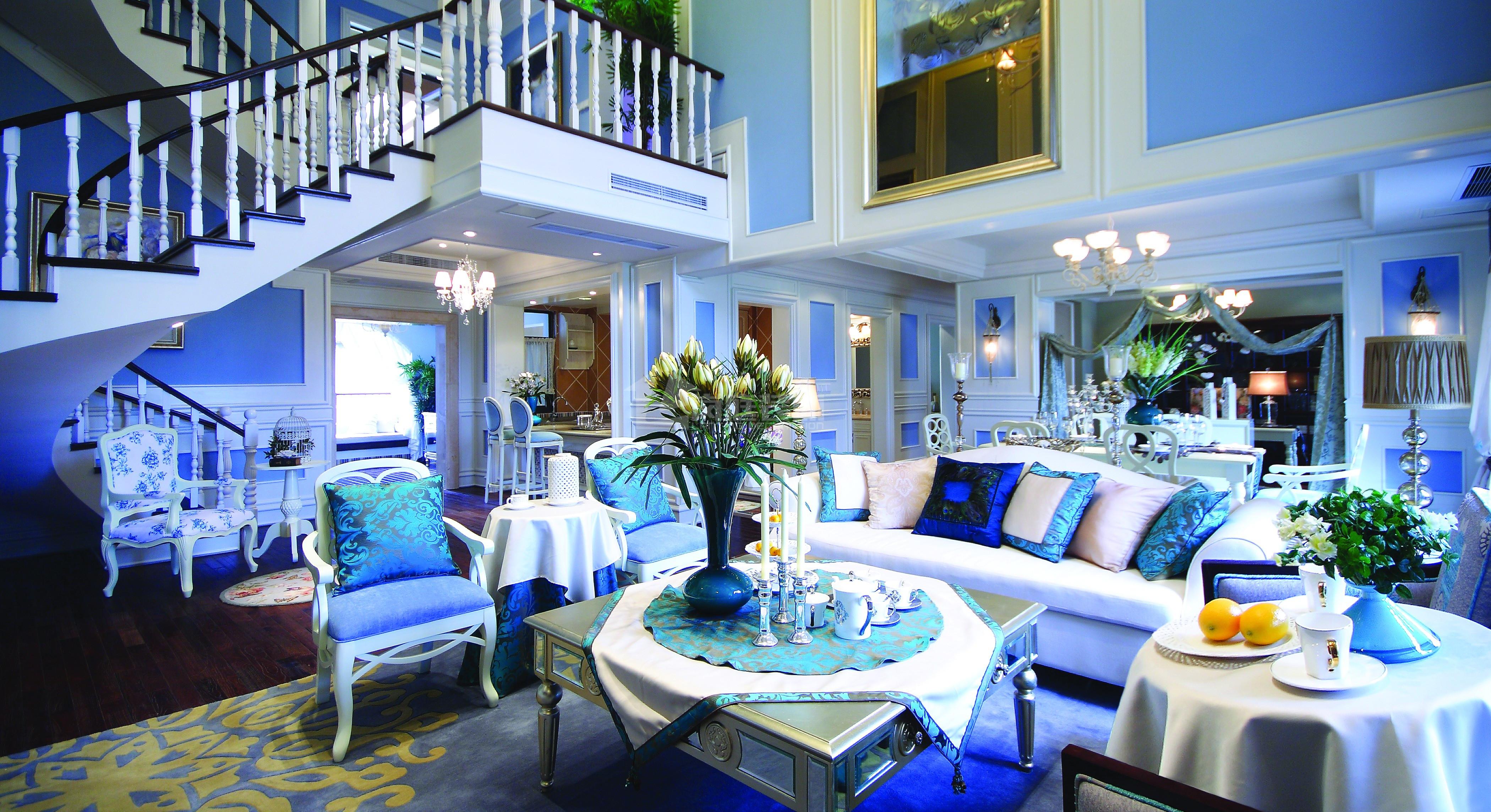 80后 小资 地中海 三居室 客厅图片来自岚庭家居在百步亭金侨汇的分享
