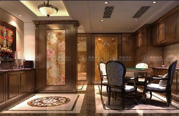 浦东南六公路莱茵美墅别墅户型装修美式风格设计方案展示,上海腾龙别墅设计师周一俊作品,欢迎品鉴