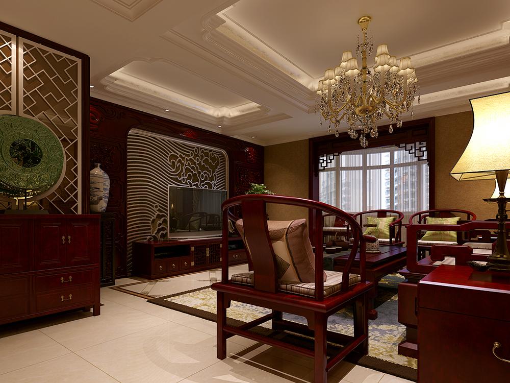 中式 天津 四居室 客厅图片来自tjsczs88在风华绝代,典雅中式的分享