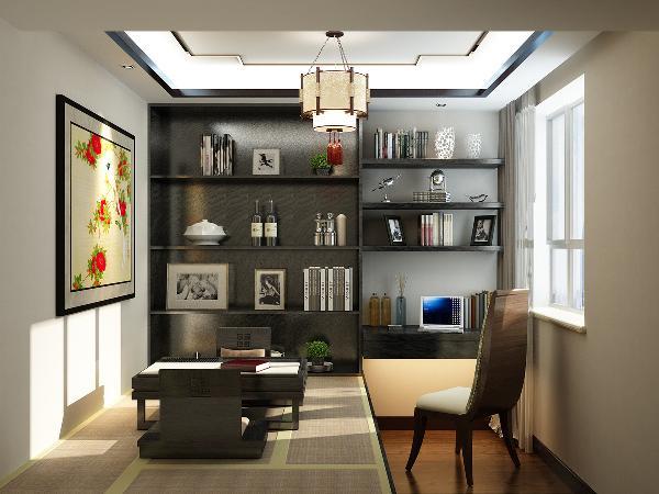 书房在设计上做了简单榻榻米的设计,既能满足书房的需求,还能满足客房的需求, 在此谈论工作都可以,一房多用,书房的柜子都已定制为主,既节约空间,又简约大气。