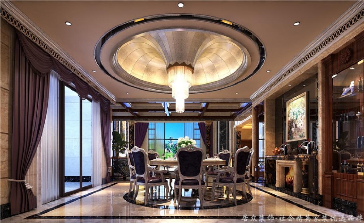别墅 混搭 欧式 餐厅图片来自深圳居众装饰集团在中西混合别墅-五桂山600㎡的分享