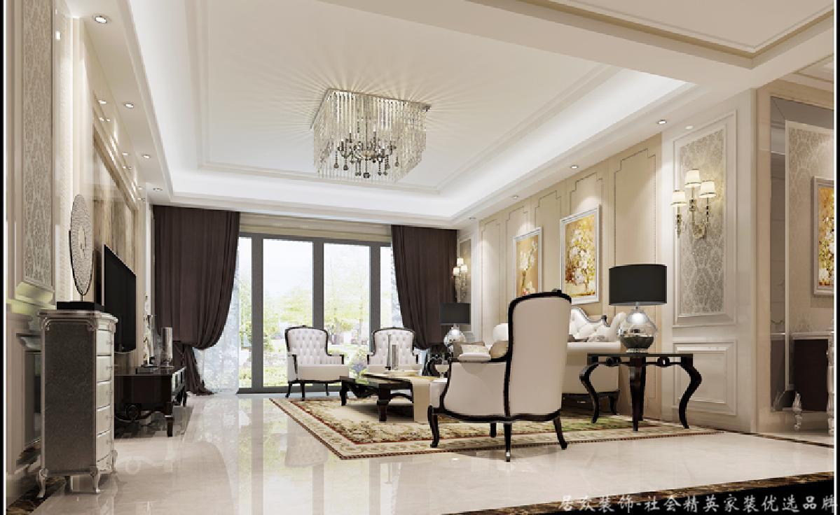 欧式 客厅图片来自深圳居众装饰集团在御峰园-欧式风格-238平米的分享