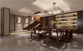 三居 中式 新中式 现代 楼梯图片来自深圳居众装饰集团在影幕般的墙壁,上演惬意人生的分享