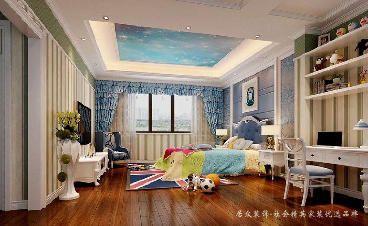 儿童房图片来自深圳居众装饰集团在贵气复古美式-鲸山觐海350㎡的分享