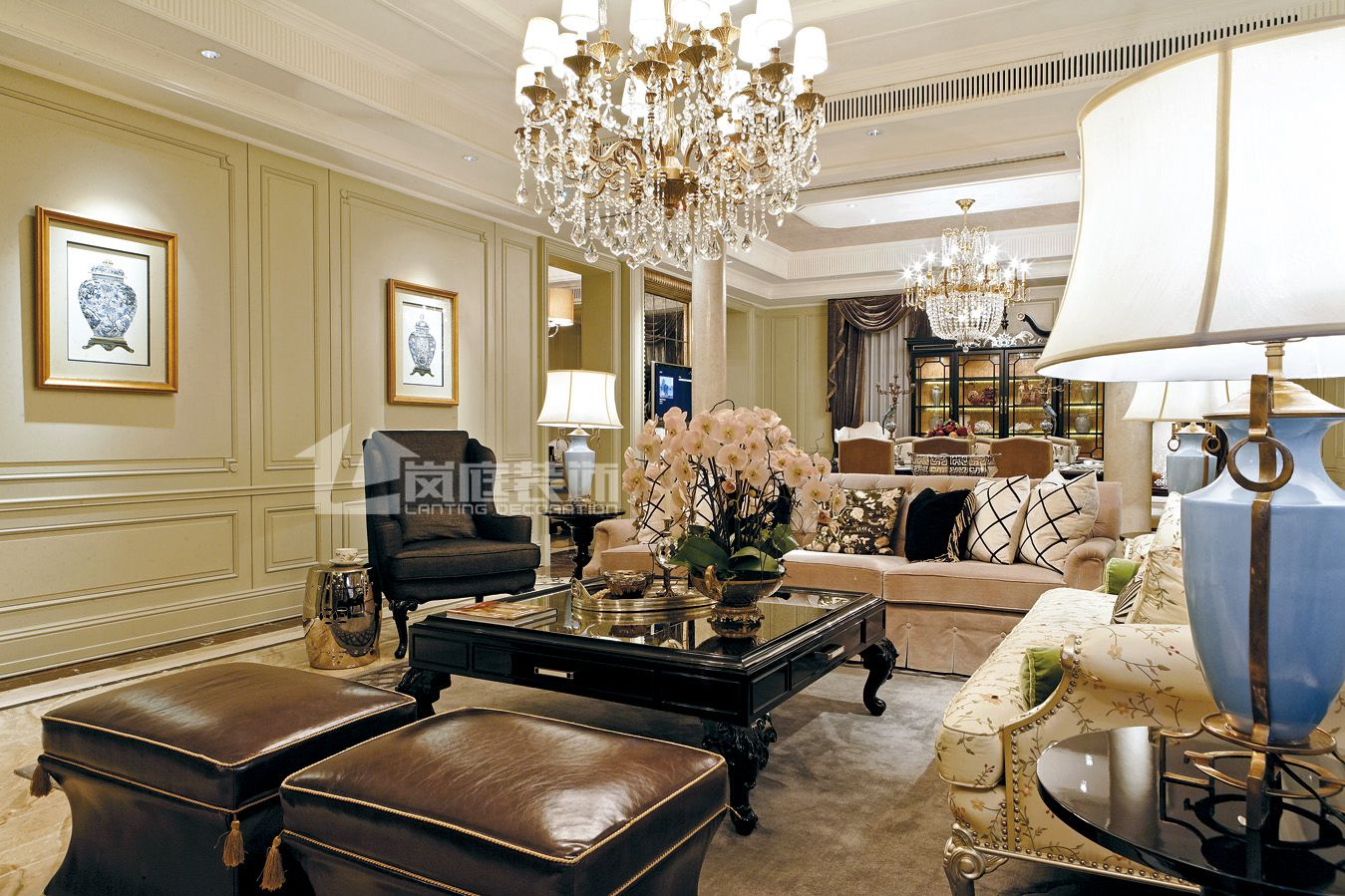 欧式 别墅 客厅图片来自岚庭家居在奥特莱斯傲墅的分享