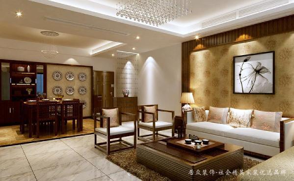 家具陈设讲究对称,重视文化意蕴:配饰擅用字画、古玩、卷轴、盆景,精致的工艺品加以点缀,更显主人的品位与尊贵。