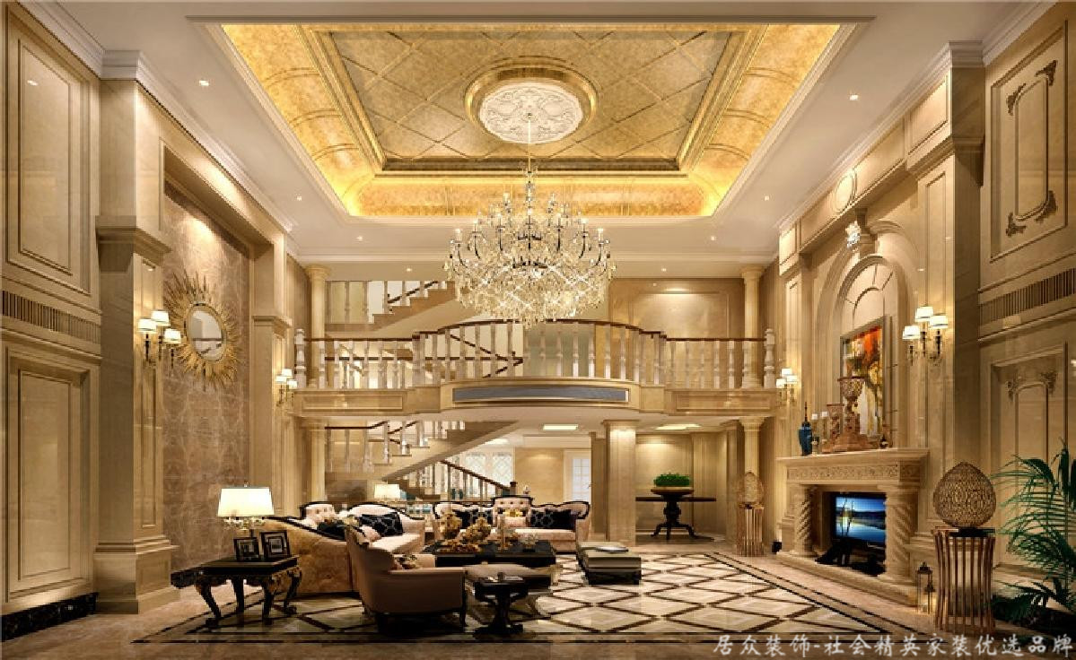 欧式 田园 别墅 客厅图片来自深圳居众装饰集团在十二橡树庄园-北欧-380平米的分享