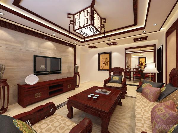 特点是对称、简约、朴素、格调雅致、文化内涵丰富,中式风格家居体现主人的较高审美情趣与社会地位。