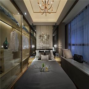 简约 混搭 二居 收纳 创意 舒适 卧室图片来自岚庭家居在金地澜菲溪岸 96m² 现代混搭的分享