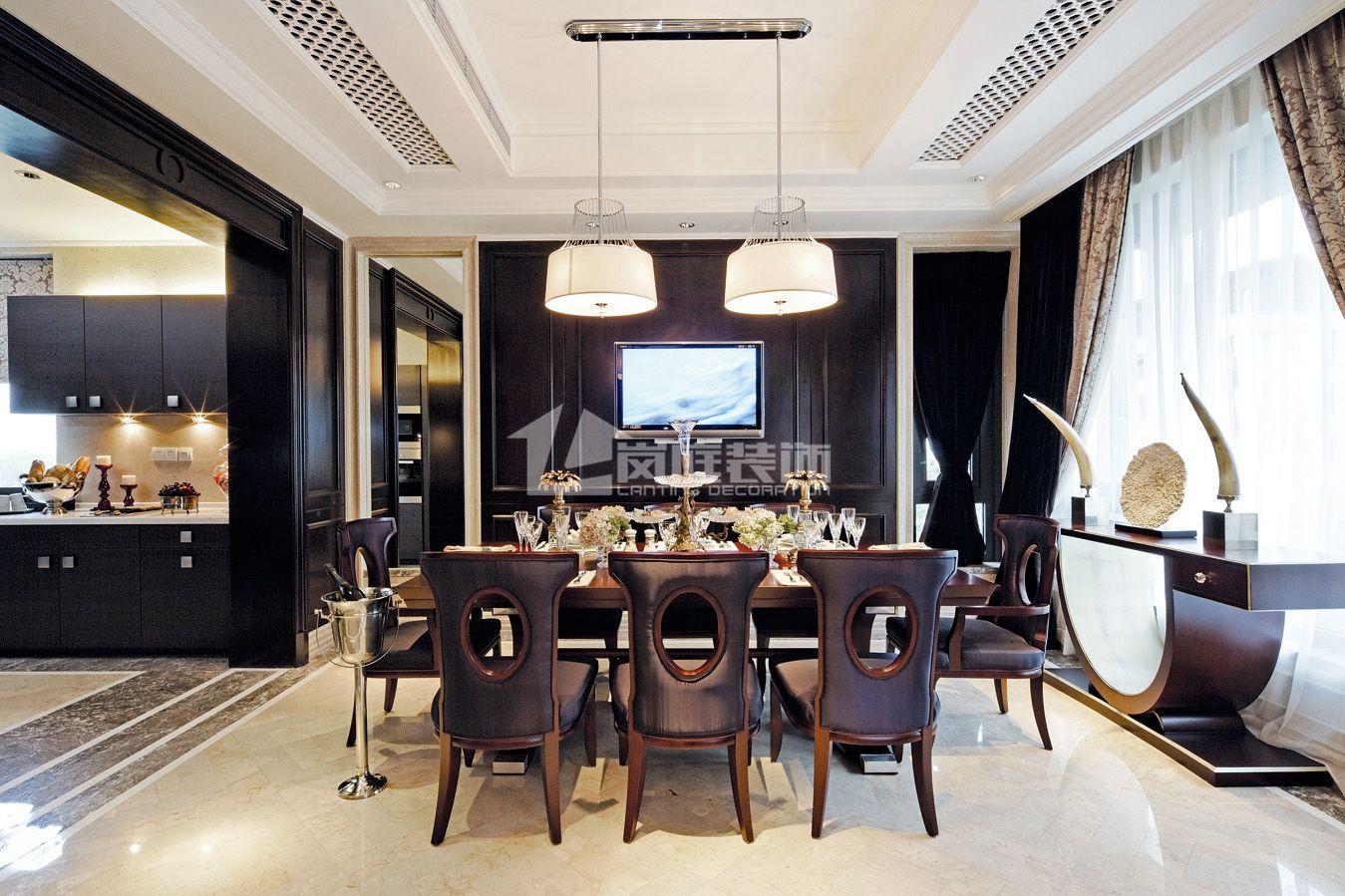 欧式 别墅 餐厅图片来自岚庭家居在奥特莱斯傲墅的分享