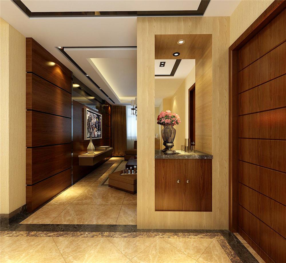 港式 二居 小资 玄关图片来自天津白天鹅装饰工程有限公司在和泓四季恋城103平港式的分享