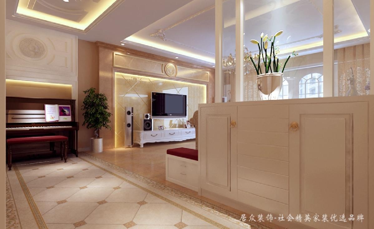欧式 典雅 客厅图片来自深圳居众装饰集团在惬意浪漫欧式风格-汇龙花园212㎡的分享