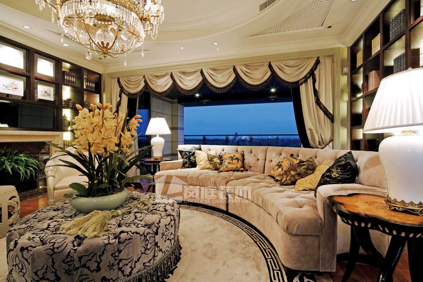 欧式 别墅 书房图片来自岚庭家居在奥特莱斯傲墅的分享