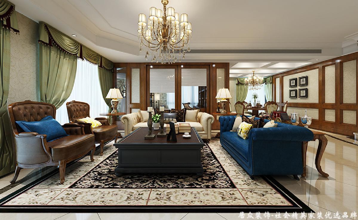 客厅图片来自深圳居众装饰集团在世纪村王府-美式风格-275平米的分享