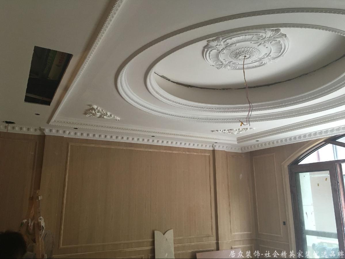 别墅 小资 中式 客厅图片来自重庆居众装饰在万科渝园在线工地进度更新的分享