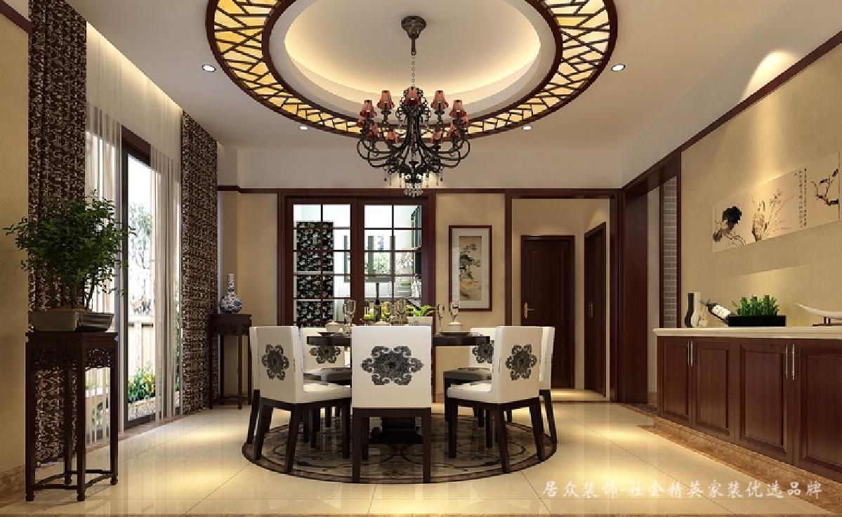 简约 现代 中式 新中式 餐厅图片来自深圳居众装饰集团在古典雅致新中式-凯茵盛荟280㎡的分享