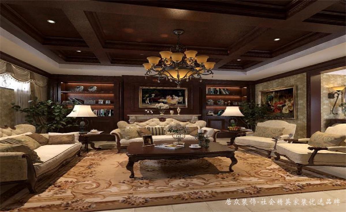 美式 欧式 别墅 其他图片来自深圳居众装饰集团在古典贵气美式-鲸山觐海350㎡别墅的分享