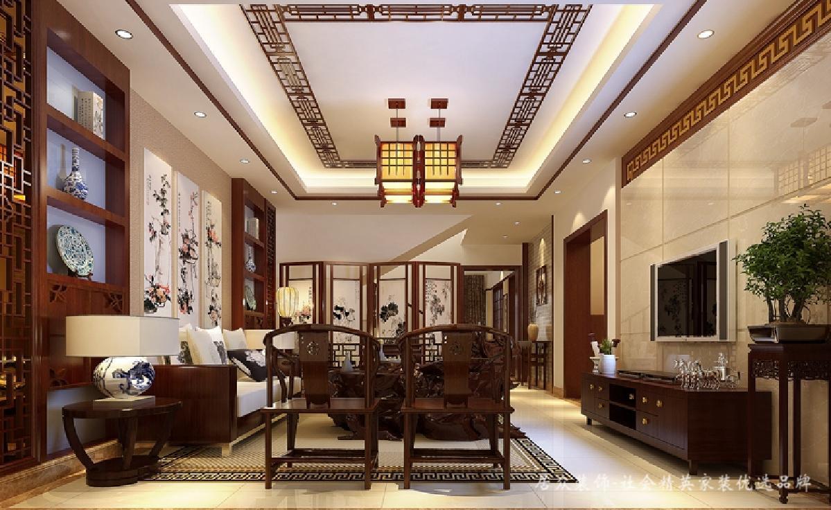 简约 现代 中式 新中式 客厅图片来自深圳居众装饰集团在古典雅致新中式-凯茵盛荟280㎡的分享