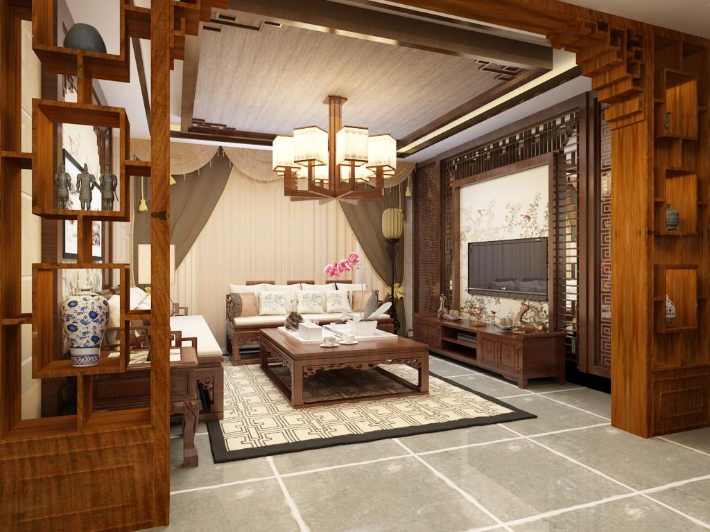 卧室图片来自石家庄阳光力天装饰在城南春天-120㎡-中式的分享