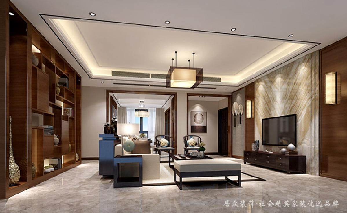 中式 现代 客厅图片来自居众装饰长沙分公司在高端创意、新中式的分享