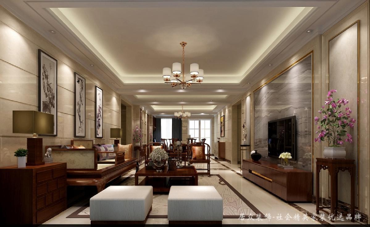 简约 中式 客厅图片来自居众装饰长沙分公司在中式豪宅、彰显大气的分享