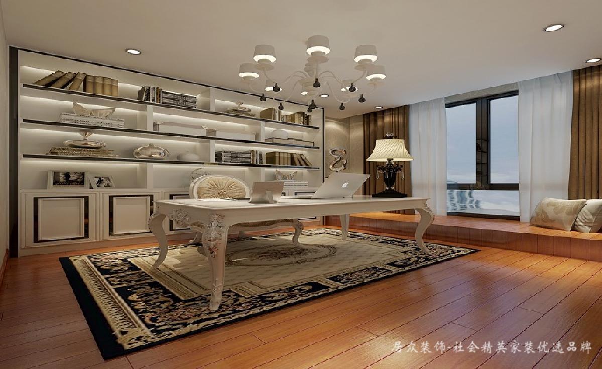 欧式 书房图片来自深圳居众装饰集团在金地荔湖墅-北欧风格-240平米的分享