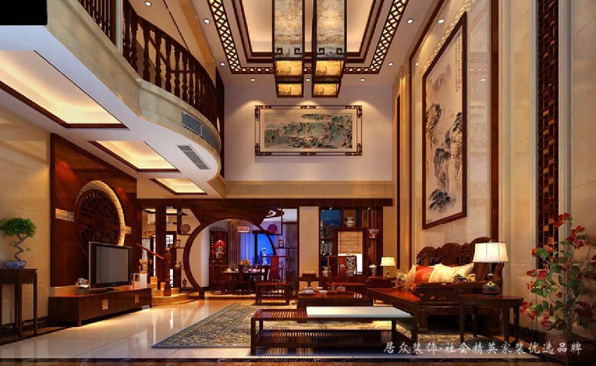 别墅 客厅图片来自深圳居众装饰集团在奥林匹克花园-中式风格-350平米的分享