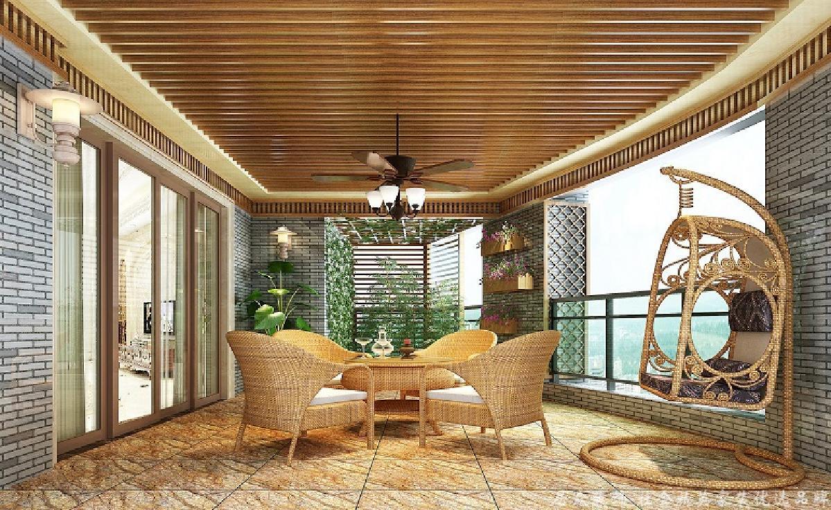 欧式 复式 小资 阳台图片来自重庆居众装饰在棕榈泉-欧式风格-240㎡的分享