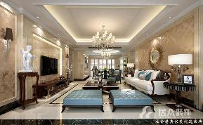 白领 小资 新古典 客厅图片来自重庆居众装饰在雍江御庭-新古典风格-140㎡的分享