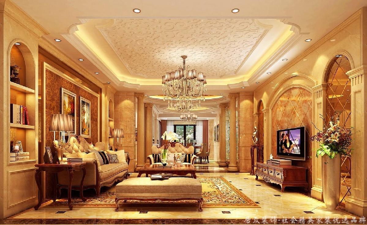 欧式 复式 小资 客厅图片来自重庆居众装饰在棕榈泉-欧式风格-240㎡的分享