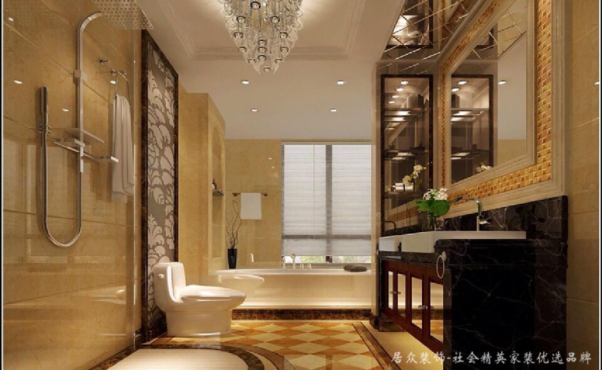 """欧式 奢华 别墅 卫生间图片来自居众装饰长沙分公司在拿破仑""""欧式经典""""的分享"""