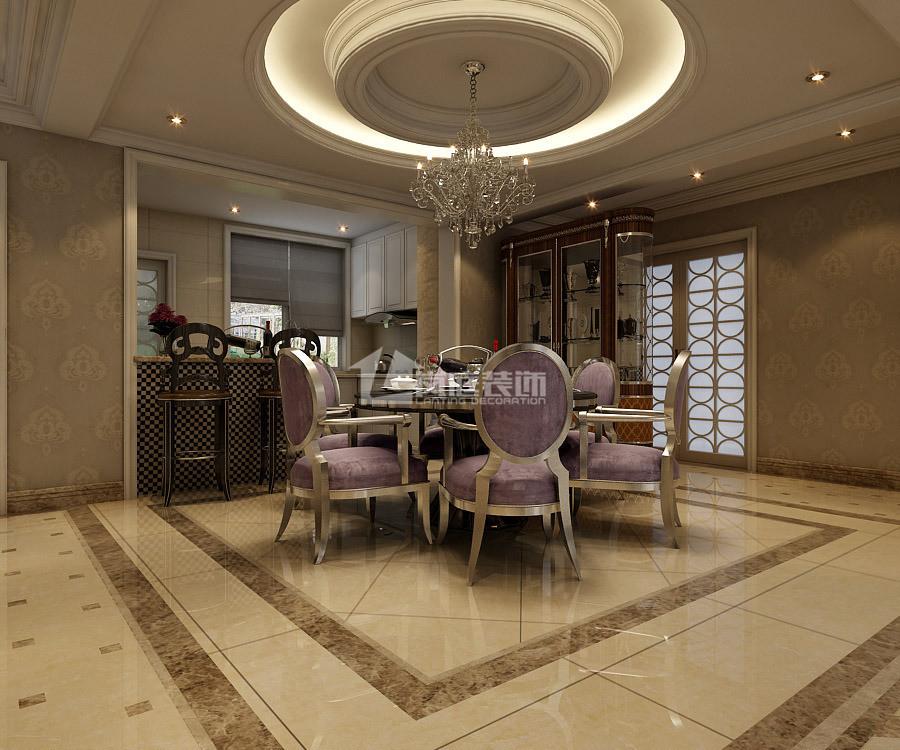 欧式 四居室 餐厅图片来自岚庭家居在融创公园壹号四居室141㎡的分享
