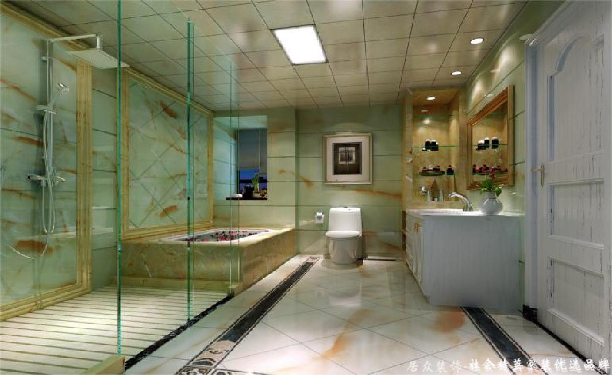 简约 欧式 复式 现代 卫生间图片来自重庆居众装饰在恒大华府-其他风格-247㎡的分享
