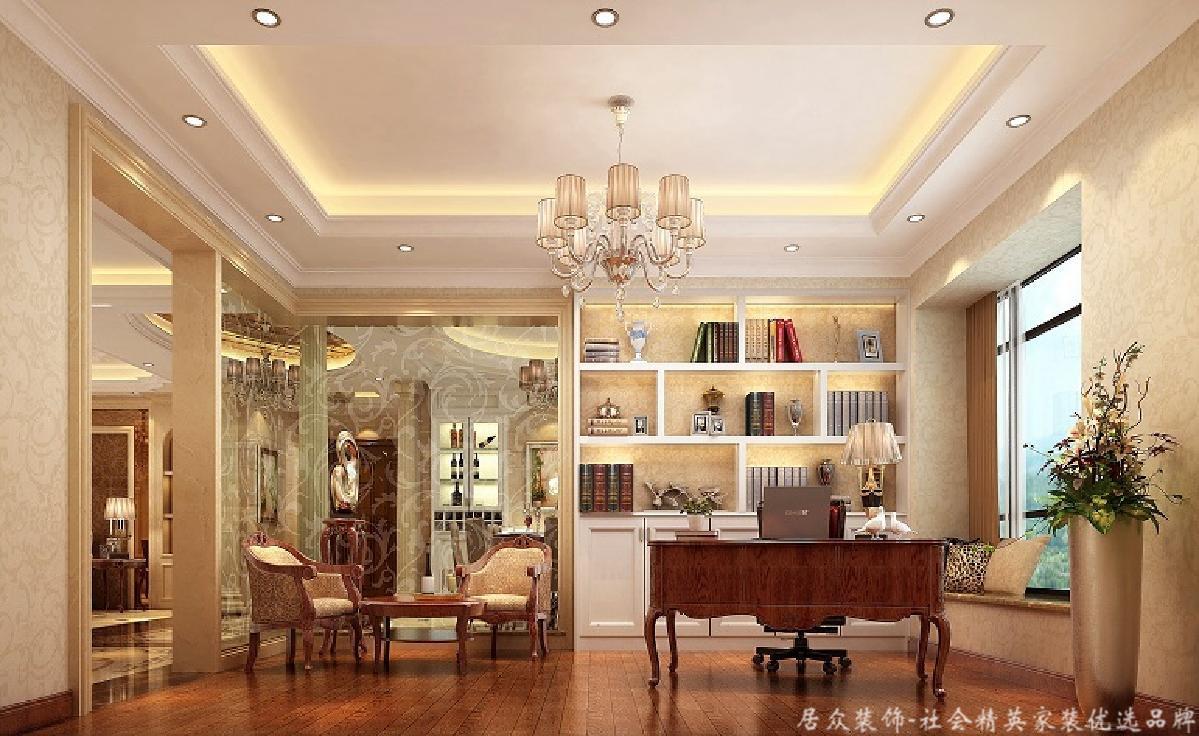 欧式 复式 小资 书房图片来自重庆居众装饰在棕榈泉-欧式风格-240㎡的分享