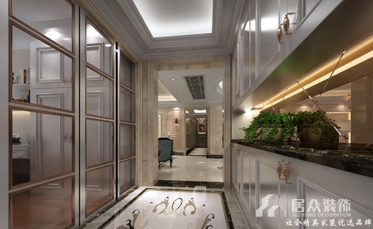 白领 小资 新古典 玄关图片来自重庆居众装饰在雍江御庭-新古典风格-140㎡的分享