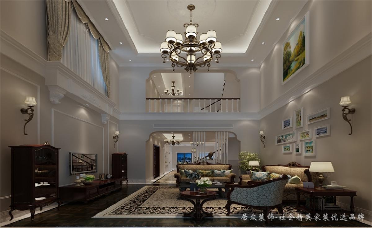 别墅 客厅图片来自深圳居众装饰集团在保利紫山-美式风格-500平米的分享
