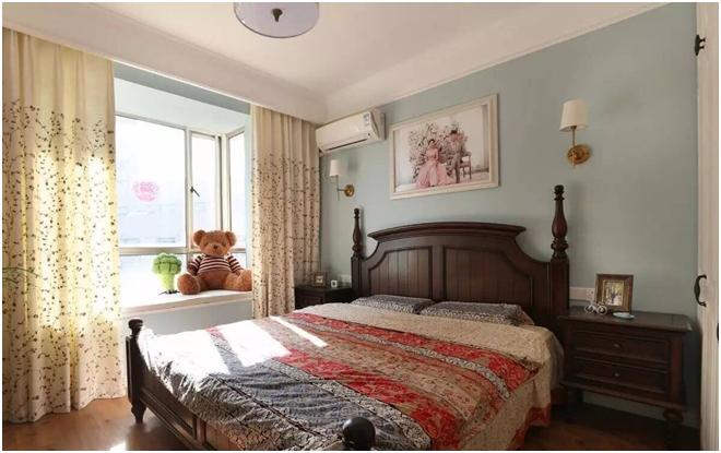 混搭 简约 美式 一居 白领 旧房改造 80后 90 小资 卧室图片来自轻舟装饰家居顾问在青塔小区芳园设计案例的分享
