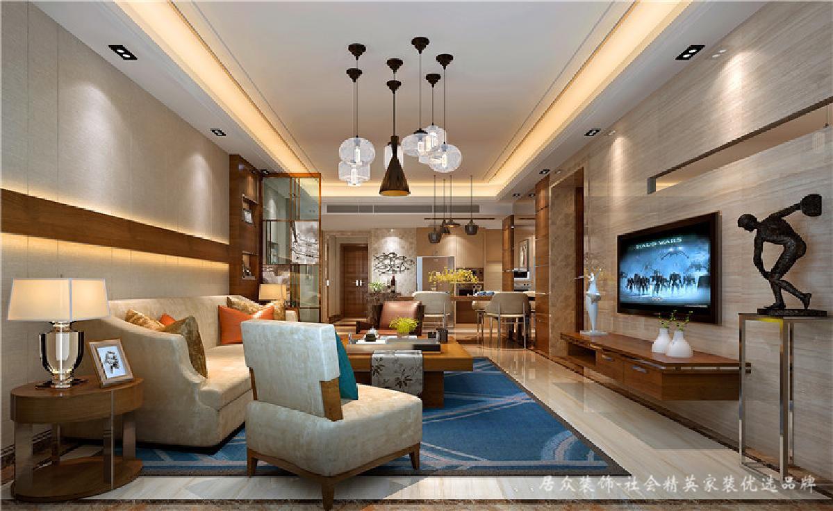 简约 客厅图片来自深圳居众装饰集团在锦河湾-现代简约-88平米的分享
