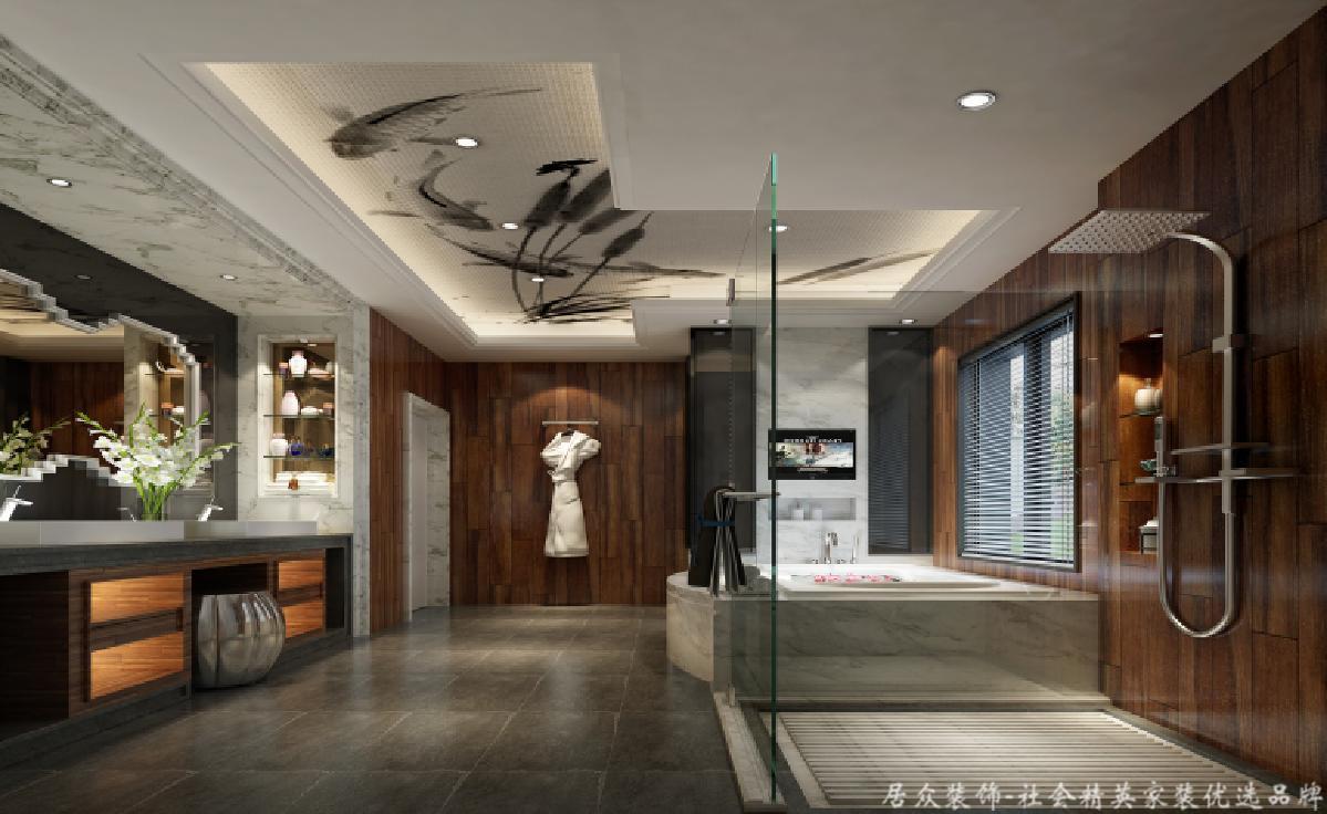 欧式 别墅 BOSS 卫生间图片来自重庆居众装饰在金科太阳海岸-欧式风格-626㎡的分享