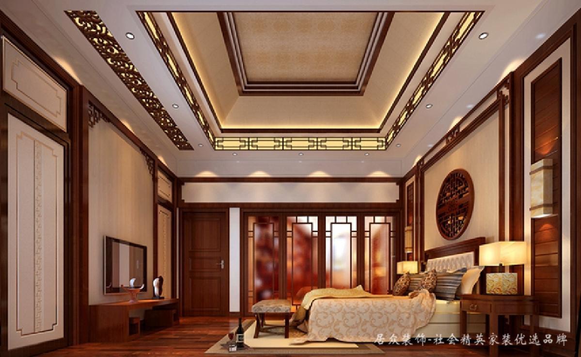 别墅 卧室图片来自深圳居众装饰集团在奥林匹克花园-中式风格-350平米的分享