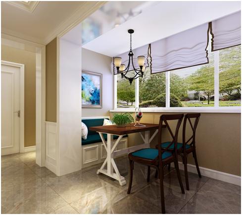 把各民族各地区的装饰装修和家具风格带到了美国,美式简约风格中整体的空间对色彩的运用给人温和柔美的感觉。